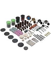 مجموعة ادوات دوارة صغيرة من 140 قطعة، مناسبة للمثقاب والات الطحن والنحت والتلميع