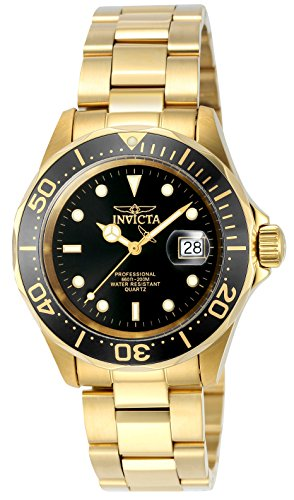 Invicta Men Swiss Quartz Steel Watch - Invicta Men's 9311 Mako Swiss Pro Diver Quartz Gold Stainless Steel Watch