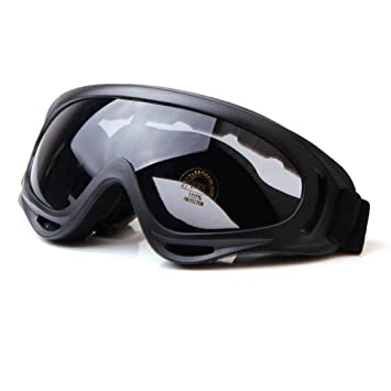 a7c4ea89c59f Viriber Snow Googles Windproof UV400 Motorcycle Snowmobile Ski Bicycle Riding  Goggles Eyewear Sports Protective Safety Glasses (Gray-Lens)  Amazon.ca  ...