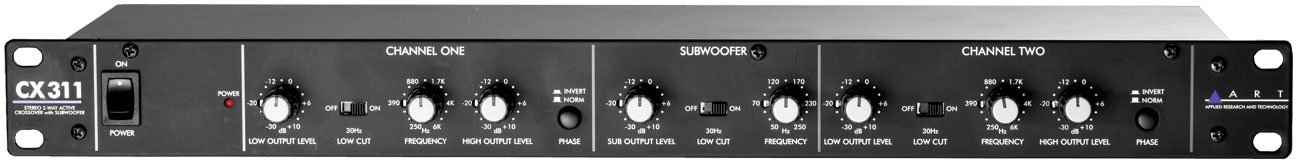 ART CX311 2-Way Crossover with Subwoofer Output