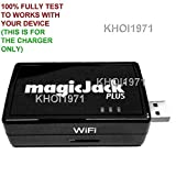 KHOI1971 Wall AC Power Adapter USB for Black Silver White MagicJack Plus VoIP Magic Jack Plus Telephone System
