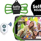 Selfie Stick It, Hands-Free Mount - Wrap it, Stick it, Click it - from Inventor of The Selfie Stick - Universal Anti Gravity Phone Case That Sticks to Any Surface - Wireless Bluetooth Remote (Green)