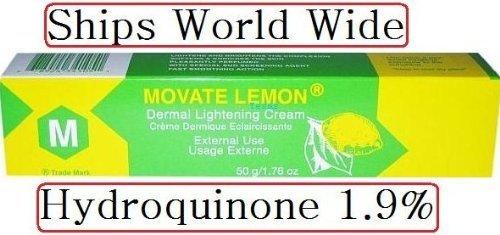 Movate M Lemon Dermal Lightening Cream HYDROQUINONE 1.9% 50 GRAMS