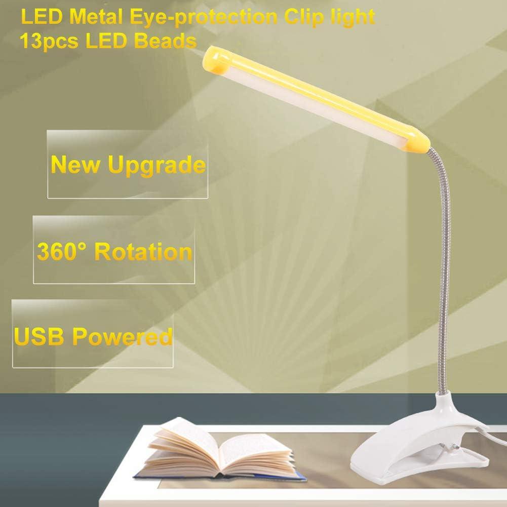 zum Anklippen,3 Helligkeit 3 Farben Touch-Steuerung LED-Schreibtischlampe Dimmbar Nachttisch- und Tischlampe Leselampe f/ür Buch Touch-Licht zum Lesen HyAdierTech Buchlampe Clip-Licht