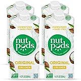 nutpods Dairy-Free Creamer Unsweetened (Original, 4-pack) - Whole30/Paleo/Keto/Vegan/Sugar Free