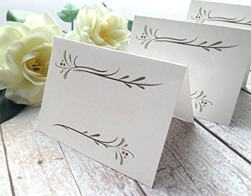 Amazon Com 30 Pack Blank White Place Cards Blank Rustic Wedding