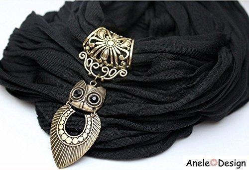 Écharpe bijou femme cadeau hibou