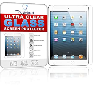 apple ipad mini 4 screen protector tempered glass package includes microfiber cleaning cloth tempered glass screen protector by trushield amazoncom tempered glass