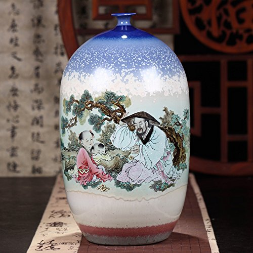 Famille Rose Porcelain Vase - Changwuju in Jingdezhen the famille rose porcelain vase painted by Caozhiyou as home decoration (tongqu)