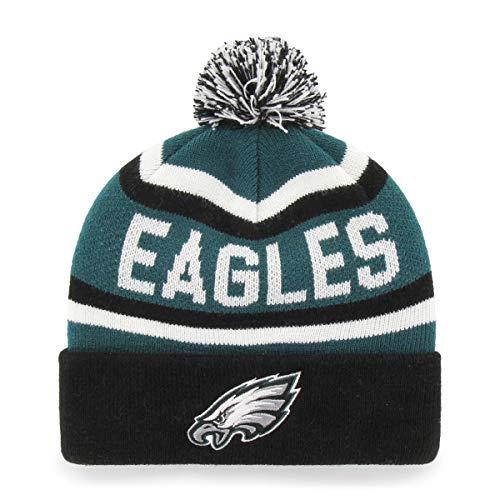 OTS NFL Philadelphia Eagles Men's Jasper Cuff Knit Cap with Pom, Team Color, One Size