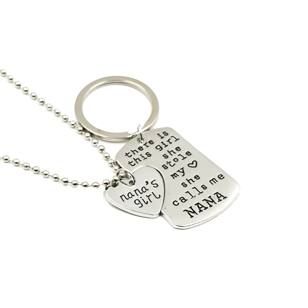 WeiVan Mother Daughter Necklace Set She Stole My Heart Love Family Gift NK-Daddy