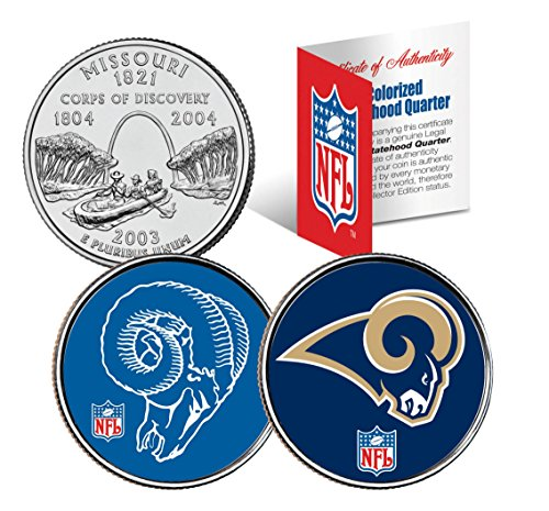 ST LOUIS RAMS *Retro & Team Logo* Missouri Quarters 2-Coin U.S. Set NFL LICENSED (Starter Louis Rams)