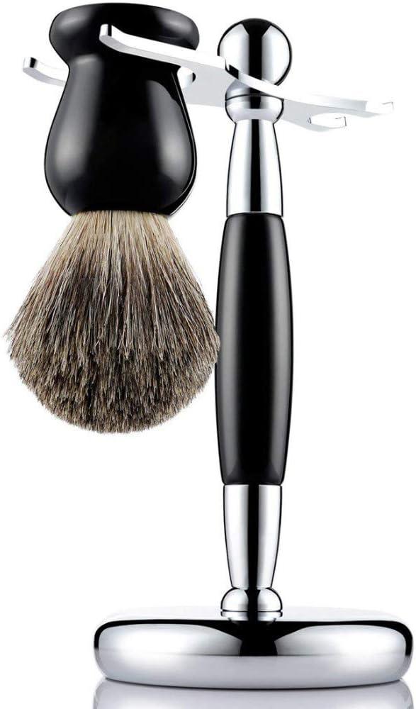 Cepillo de afeitar de la vendimia cepillo de afeitar titular de los hombres cepillo suave cepillo de cerdas conjunto de cepillo de limpieza de madera: Amazon.es ...