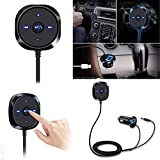 Clearance Bluetooth 4.0 FM Transmitter, Autoday Automotive Wireless Adapter Car Kit Music Player 3.5mm AUX Handsfree Vehicle Kit (Ship From US)