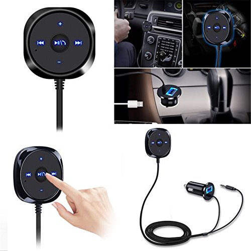 Clearance Bluetooth 4.0 FM Transmitter, Autoday Automotive Wireless Adapter Car Kit Music Player 3.5mm AUX Handsfree Vehicle Kit (Ship From US) by Autoday-auto