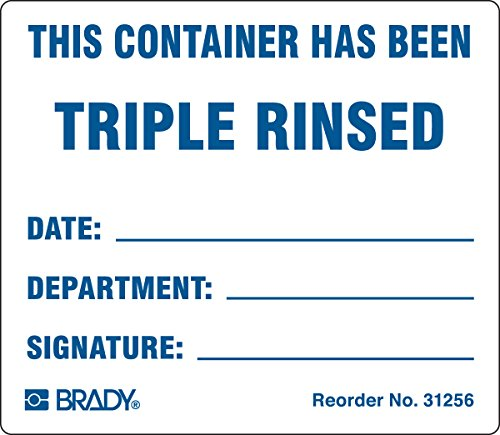 Brady 31256LS Material Handling, Shipping and Receiving Labels, Coated, Paper, 2.5