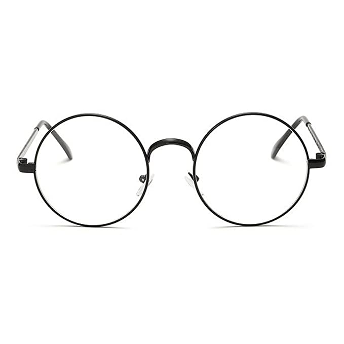 8e7178f5339f RAZMAZ® Round Retro Men-women Metal Frame Eyeglasses Korean Clear Lens Spectacles  Glasses (Clear Copper)  Amazon.in  Clothing   Accessories