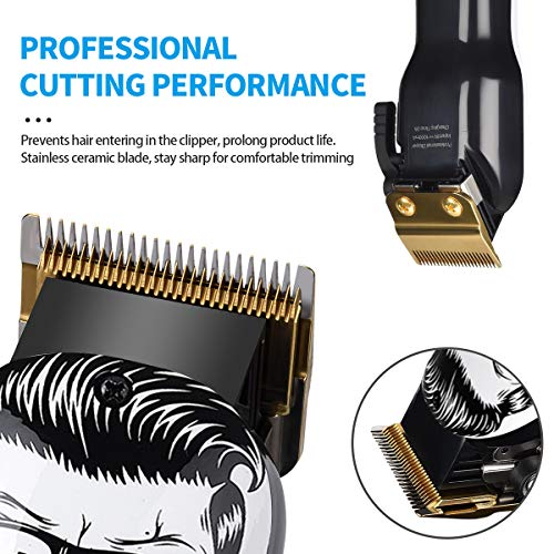 Upgraded Cordless Electric Hair Clippers 2-Speed Professional Rechargeable Hair Cutting Machine for Men Kids Baby Barber Grooming Cutter Kit Low Noise Clippers 2000mAh Pet Clipper Grooming Kit