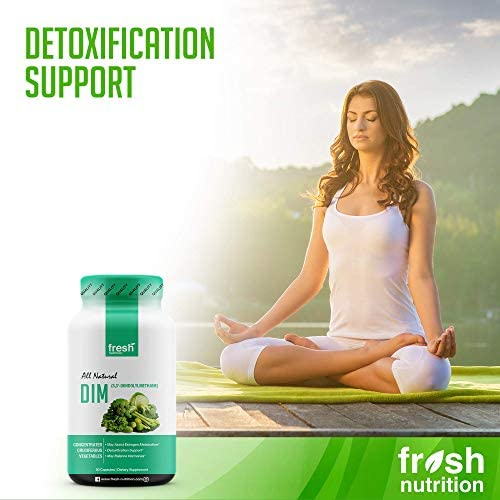 DIM Supplement 500mg - DIM Diindolylmethane - All Natural Estrogen & Hormone Balance Supplement Great for Detox, Menopause Relief, Acne, PCOS, Weight Loss & Bodybuilding – Vegan Friendly 6