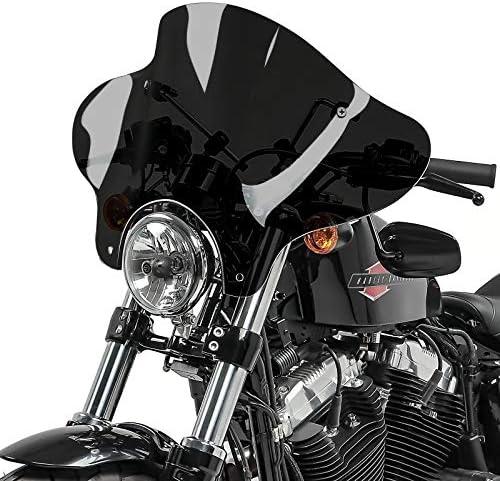 Parabrezza Batwing per Harley Sportster 883 Iron fumo scuro