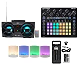 Novation CIRCUIT Groove Box Music Controller Pad/Drum Machine+2) Speakers+Mic