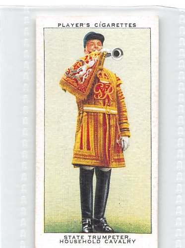 State Trumpeter, Household Cavalry 1937 Player Cigarettes Coronation Series Ceremonial Dress #48 (EX)