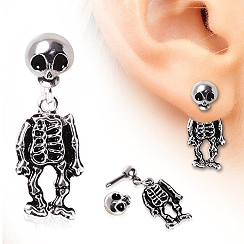 Skeleton Dangle Earring 316L Surgical (Jewelry Skeleton)