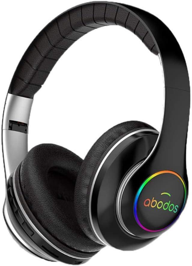 Auricular inalámbrico Bluetooth Auricular Plegable 1000mAh Casco Auricular de Sonido estéreo 3D Juego de 6 Modos de ecualización de la batería,Negro,China