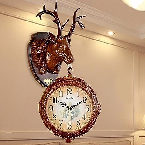 HUANGYAHUI Despertador Reloj De Pared Sala Relojes Decorativos De Pared Gran Silencio En La Tabla De