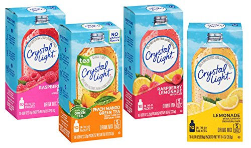 Flavor Drink Mix - Crystal Light 4 Favorite Flavors Sugar-Free On-The-Go Drink Mix Variety Pack, 10 Count Each (Pack of 4)