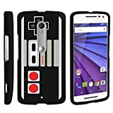 Cheap MINITURTLE Case Compatible w/ Case for Droid Maxx 2 , 2 Piece Hard Snap On Case + Screen Protector Film + Black Motorola X Play Game Controller