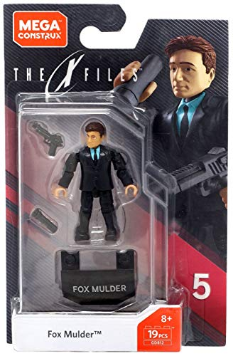 Mattel Mega Construx Heroes Fox Mulder Micro Action Figure, Multi Color