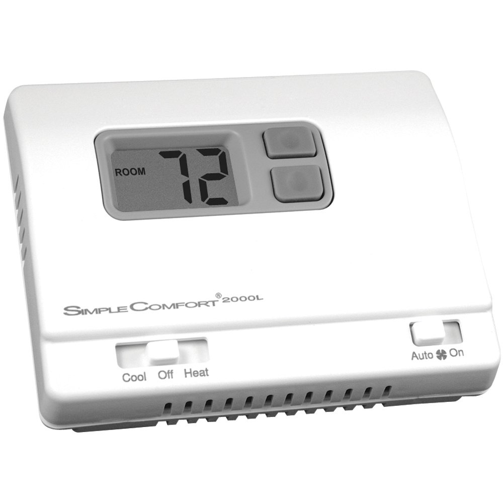 ICM Controls SC2000L  Simple Comfort Non-Programmable Thermostat with Backlit Display, Honeywell: T8400, T8401 Series, Robert Shaw: 300-206, 8400-1, 9400, 9500, RS2110, White-Rodgers: 1F78-144