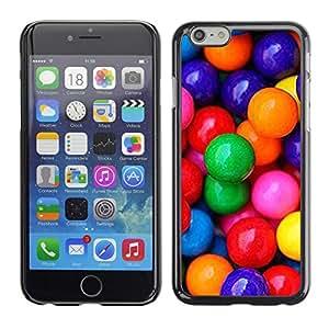 FlareStar Colour Printing Candy Chocolate Red Blue Sweet Pattern cáscara Funda Case Caso de plástico para Apple (5.5 inches!!!) iPhone 6 Plus