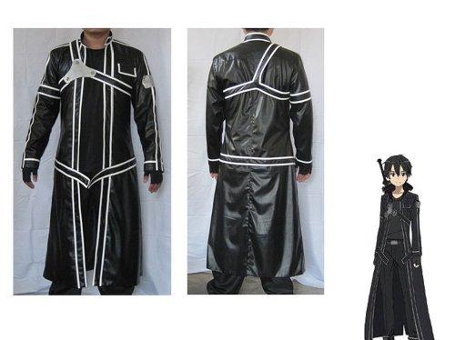 [Fantasycart Sword Art Online Aincrad Kirito Anime Cosplay Costume size XL] (Child Trench Coat Costumes)
