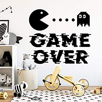Game Over Wall Stickes Sala de juegos Tatuajes de pared Cita de la ...