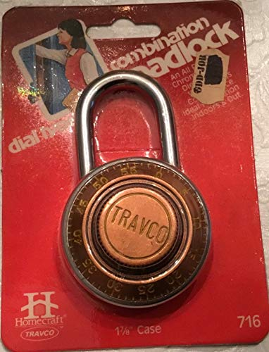 Vintage Travco Combination Lock School Locker NEW in package.