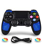 PS4 Controller Wireless Joysticks - Dual Shock 4 Game Remote,Bluetooth DS4 Gamepad,Support Playstation 4,Pro/Slim PS4,PC,PS TVs,Smart TV(Blue Diamond
