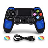 PS4 Controller Wireless Joysticks - Dual shock 4 Game Remote,Bluetooth DS4 Gamepad,Support Playstation4,Pro/Slim PS4,PC,PS TVs,Smart TV(Blue Diamond)