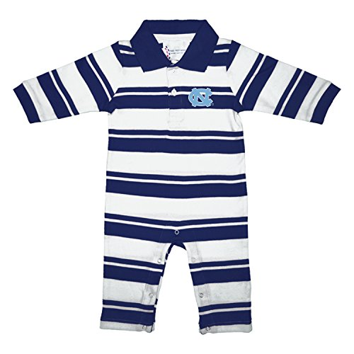 North Carolina Tar Heels NCAA College Infant Baby Rugby Striped Leg Romper (6 Months) ()