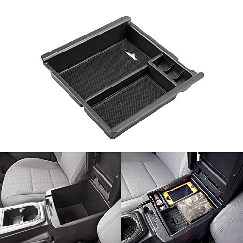 (Seven Sparta Center Console Organizer for Toyota Tacoma 2016 2017 2018 Insert ABS Tray Armrest Box Secondary Storage )