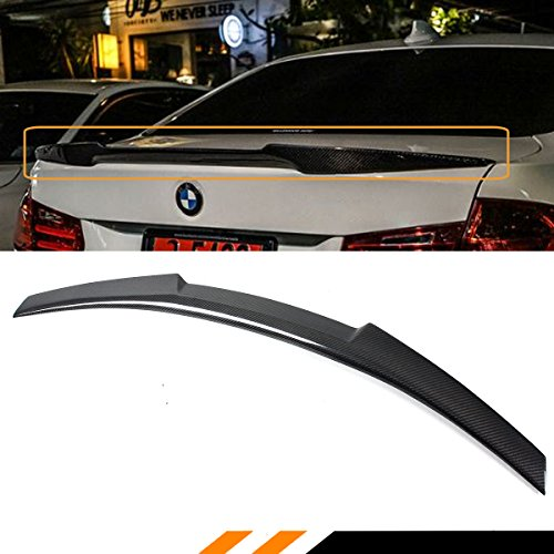 FOR 2008-2012 BMW E90 M3 SEDAN & 2006-2011 E90 3 SERIES SEDAN V TYPE CARBON FIBER TRUNK SPOILER WING -M4 STYLE (Trunk Wing)