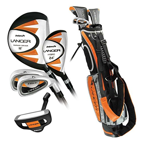 Intech Lancer Junior Golf Club Set (LH Orange Ages - Left Golf Youth Clubs Handed