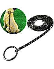 Umysky Dog P Snake Chain Chrome Plated Metal Dog Training Choke/Collar-Fully Guaranteed Against Rust Tarnish or Breakage-Recommended for Professional Training,Black 45cm