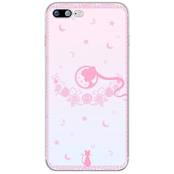 24d81a790b1 Cartoon Sailor Moon Beautiful Girl Soft Silicone Clear TPU Phone Case Cover  for iPhone 6 6S