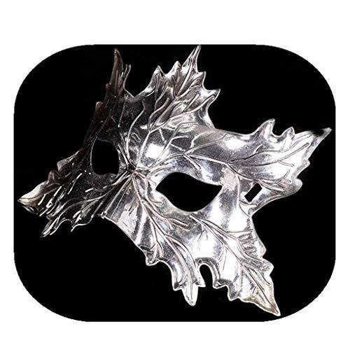(Cosplay Vintage Halloween Costume Eye mask Leaf Pattern Design Party Decoration Props)