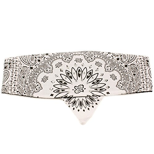 - Choptop Bandana Head Doo Wrap Scarf Biker Crystal White