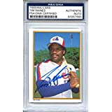 Tim Raines Autographed Signed 1987 Topps All Star Set Trading Card - PSA/DNA Authentic