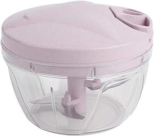 Meat Grinder - Multifunctional Hand-power Meat Grinder Flour Maker Kitchen Cooking Machine Stirrer(pink)