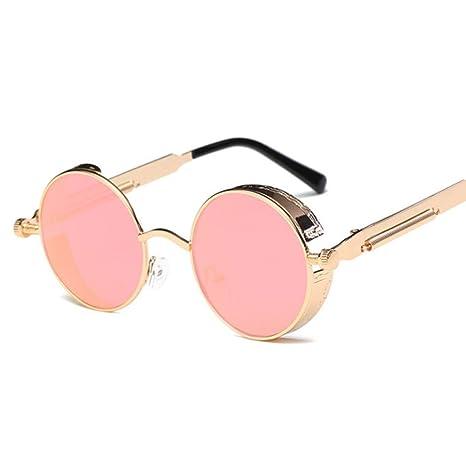 Yangjing-hl Gafas de Sol clásicas Personalidad Redonda Gafas ...